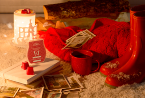 photo featuring cozy fireside fragrance and peace warmer