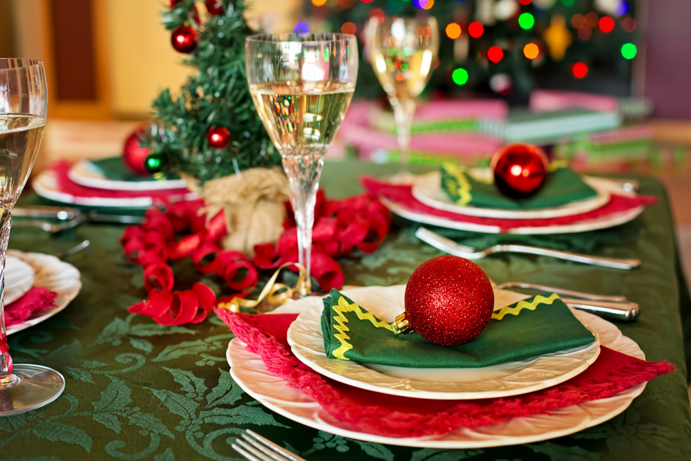 photo of holiday table setting