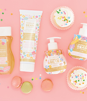 Photo of scentsy body products in scent Vanilla Buttercream