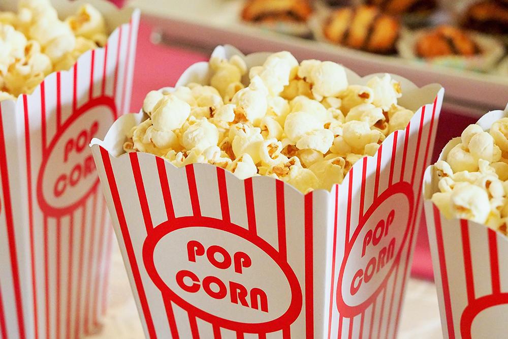 photo of popcorn boxes