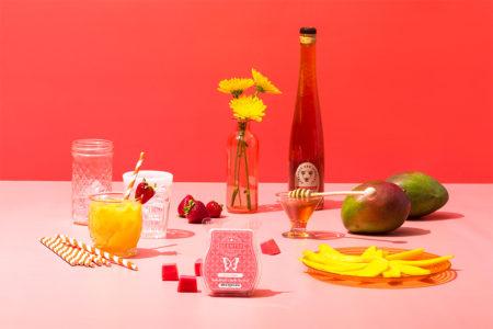 Photo of Scentsy go, go mango wax bar on a mango dessert themed table