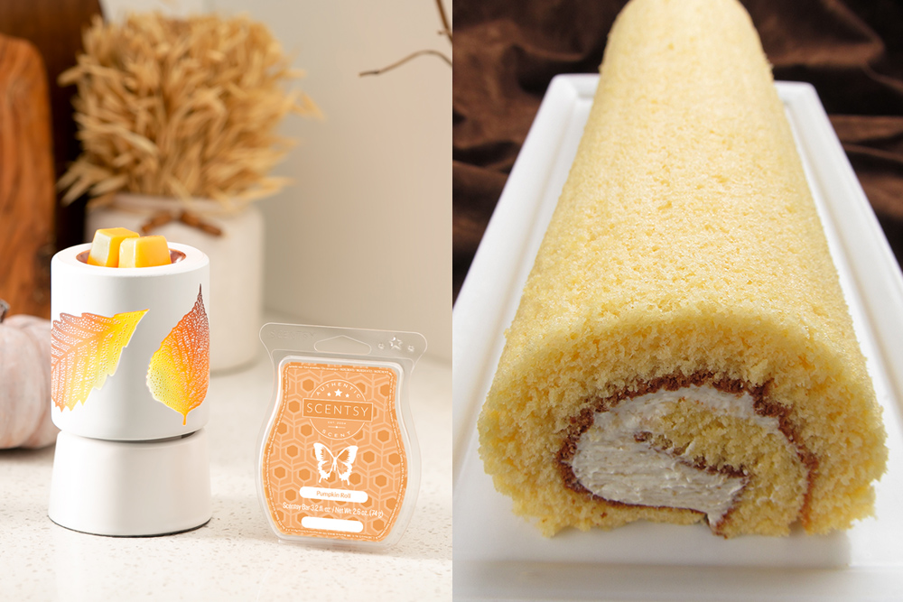 Photo of pumpkin roll fragrance and food