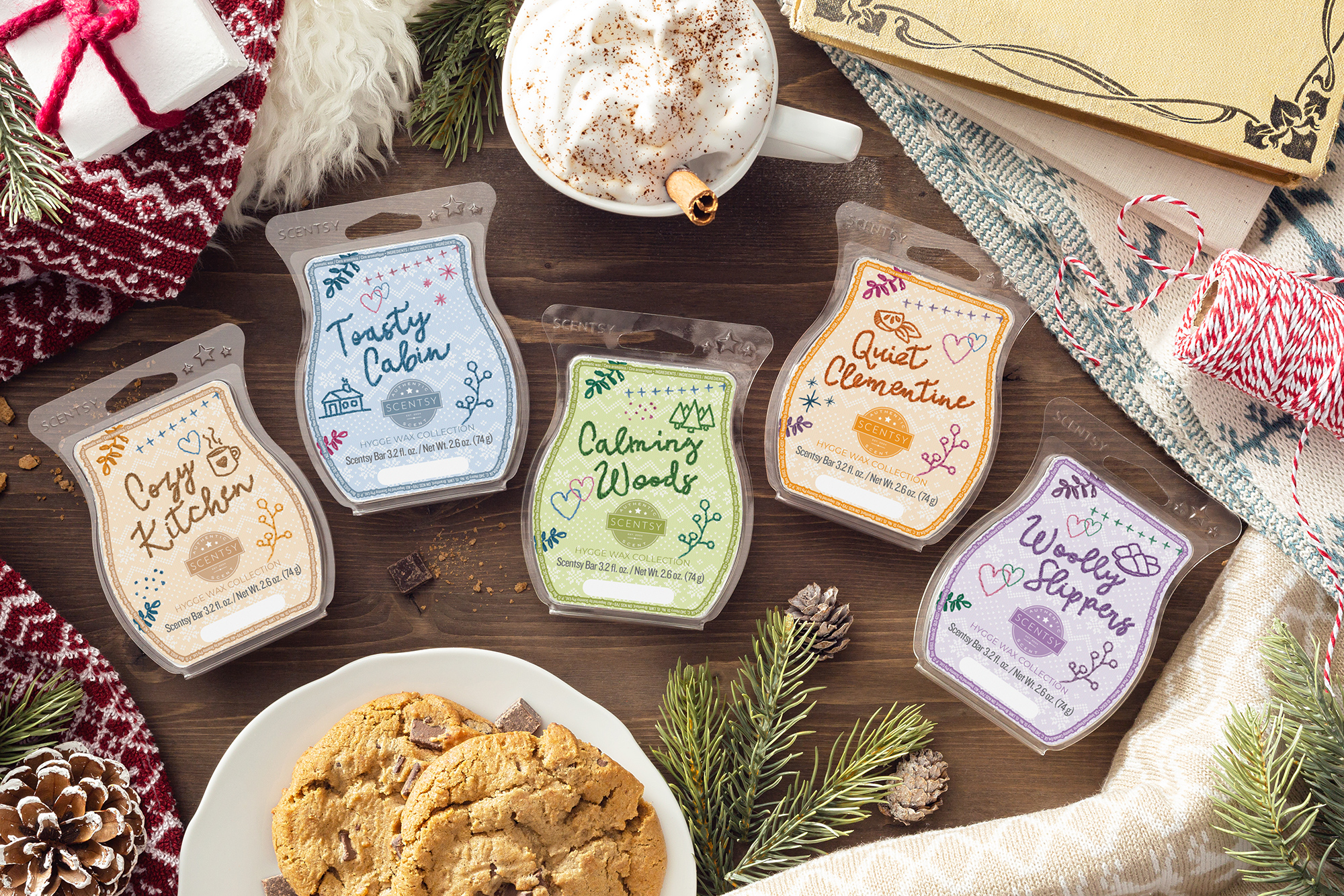 Photo of scentsy hygge wax collections