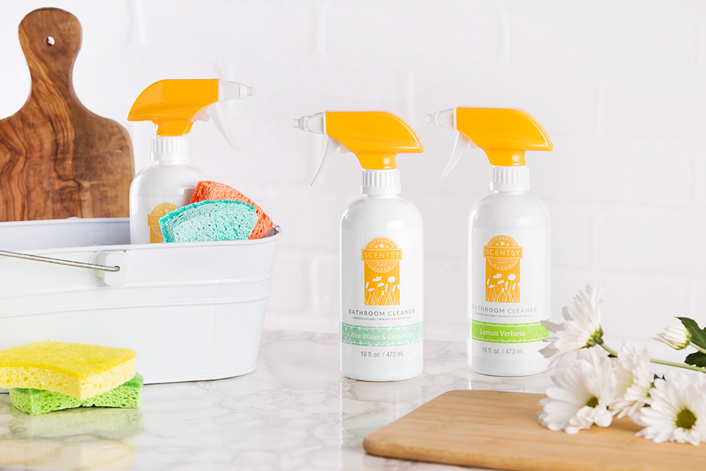 Photo of Scentsy Bathroom Cleaner on a counter top